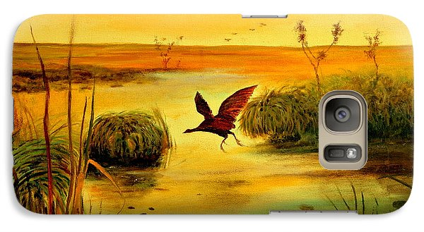 Galaxy Case featuring the painting Bird Water by Henryk Gorecki