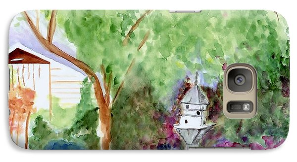 Galaxy Case featuring the painting Birdhouse by Jamie Frier