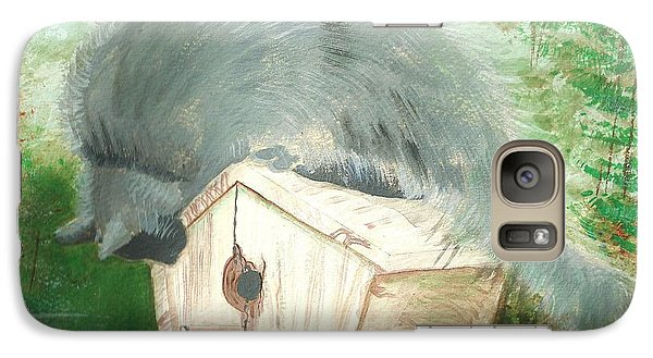 Galaxy Case featuring the painting Birdie In The Hole by Denise Fulmer