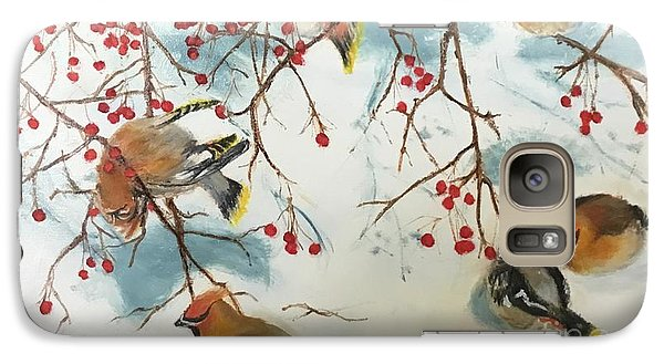 Cedar Waxing Galaxy S7 Case - Birds And Berries by Diane Donati