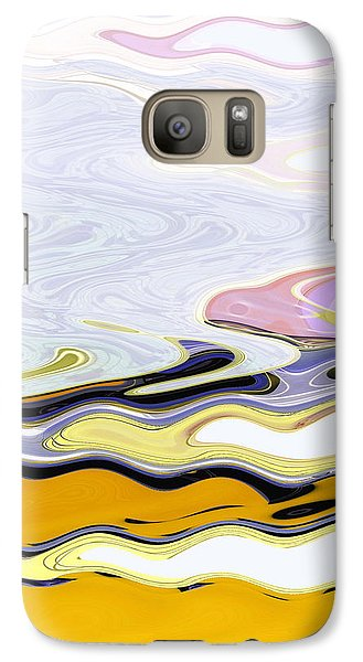 Galaxy Case featuring the digital art Birds And Beach by Lenore Senior