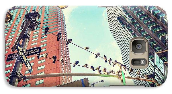 Birds In New York City Galaxy S7 Case