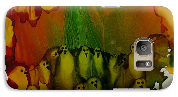 Galaxy Case featuring the painting Birds Of The Ocean # 69. by Sima Amid Wewetzer