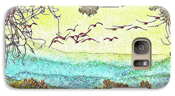 Birds Over Horizon - Boulder County Colorado Galaxy S7 Case by Joel Bruce Wallach