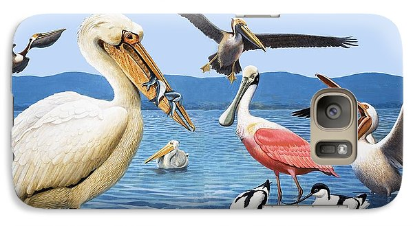 Spoonbill Galaxy S7 Case - Birds With Strange Beaks by R B Davis