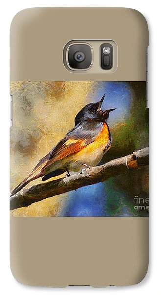 Galaxy Case featuring the painting Birdsong by Elizabeth Coats