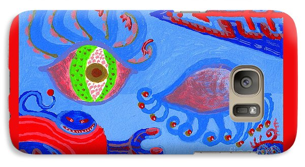 Galaxy Case featuring the painting Birth And Death by Peter Gumaer Ogden