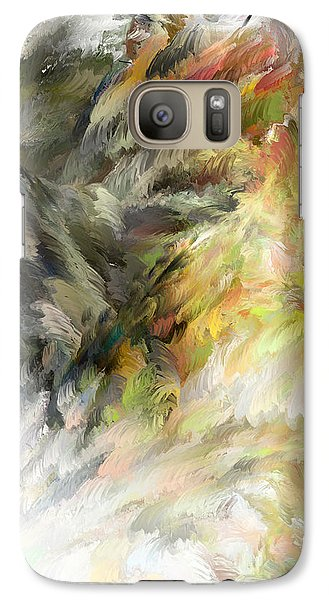 Galaxy Case featuring the digital art Birth Of Feathers by Dale Stillman