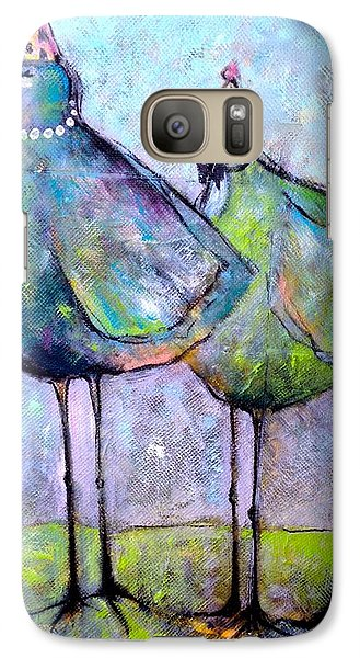 Galaxy Case featuring the painting Birthday Buddies by Eleatta Diver