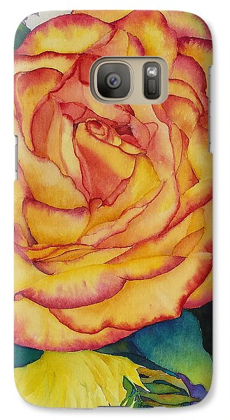 Galaxy Case featuring the painting Birthday Rose by Judy Mercer