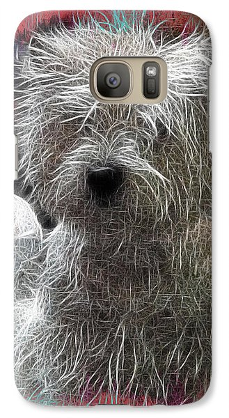 Galaxy Case featuring the photograph Bishon Frise by EricaMaxine  Price