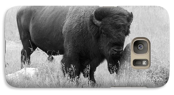 Galaxy Case featuring the photograph Bison And Buffalo by Mary Mikawoz