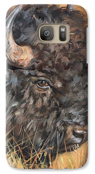 Galaxy Case featuring the painting Bison by David Stribbling