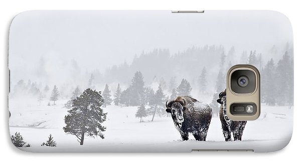 Bison In The Snow Galaxy S7 Case by Gary Lengyel