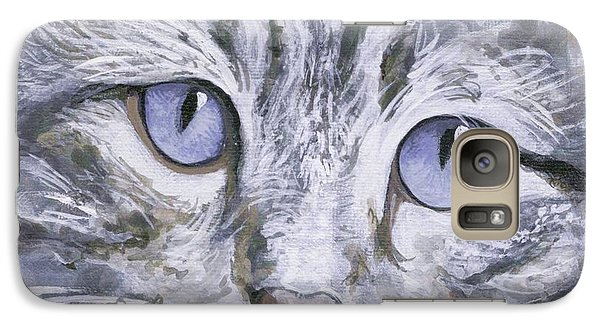 Galaxy Case featuring the painting Bisous by Mary-Lee Sanders