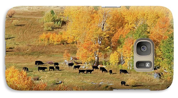 Galaxy Case featuring the photograph Black And Gold by Donna Kennedy
