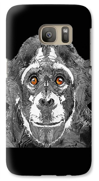 Black And White Art - Monkey Business 2 - By Sharon Cummings Galaxy S7 Case by Sharon Cummings
