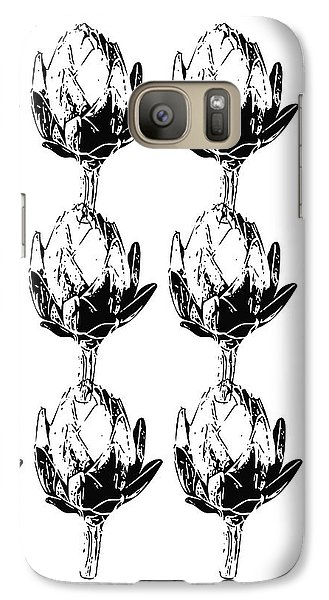 Black And White Artichokes- Art By Linda Woods Galaxy S7 Case by Linda Woods