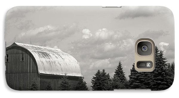 Galaxy Case featuring the photograph Black And White Barn by Joann Copeland-Paul