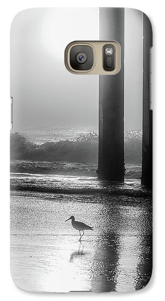 Galaxy Case featuring the photograph Black And White Bird Beach by John McGraw