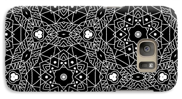 Black And White Boho Pattern 3- Art By Linda Woods Galaxy Case by Linda Woods