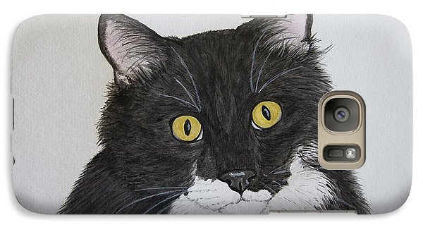 Black And White Cat Galaxy Case by Megan Cohen