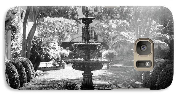 Galaxy Case featuring the photograph Black And White Charleston Fountain by Heather Green