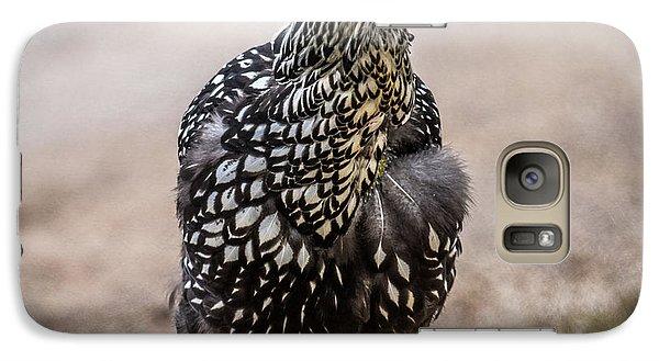 Black And White Chicken Galaxy S7 Case by Paul Freidlund