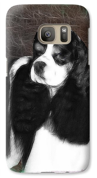 Galaxy Case featuring the photograph Black And White Cookie by EricaMaxine  Price