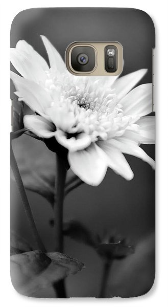 Galaxy Case featuring the photograph Black And White Coreopsis Flower by Christina Rollo