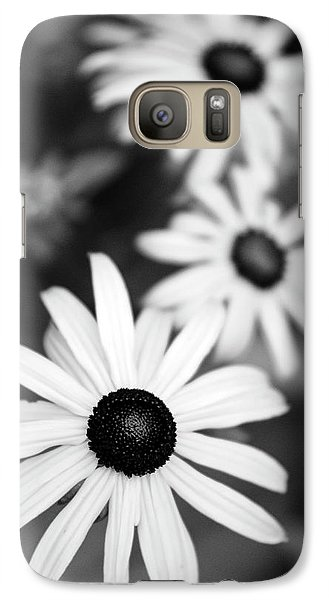 Galaxy Case featuring the photograph Black And White Daisies by Christina Rollo