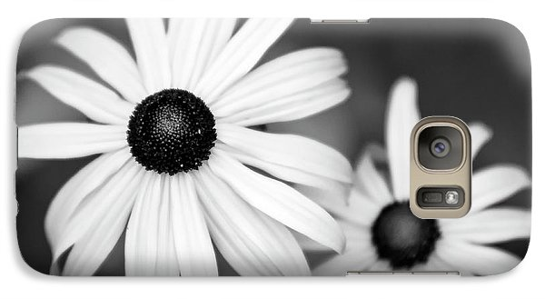 Galaxy Case featuring the photograph Black And White Daisy by Christina Rollo