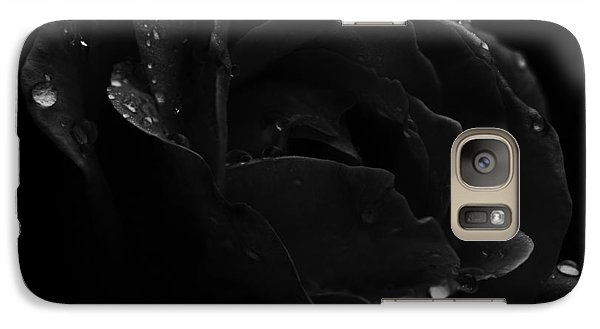 Galaxy Case featuring the photograph Black And White Flower Fifteen by Kevin Blackburn