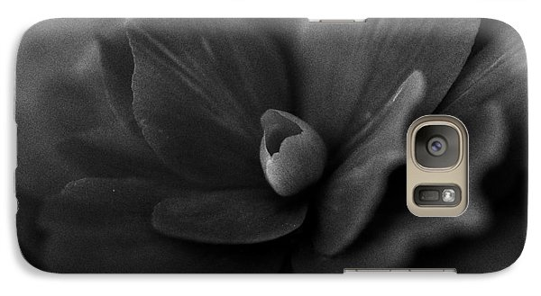 Galaxy Case featuring the photograph Black And White Flower Fifty by Kevin Blackburn