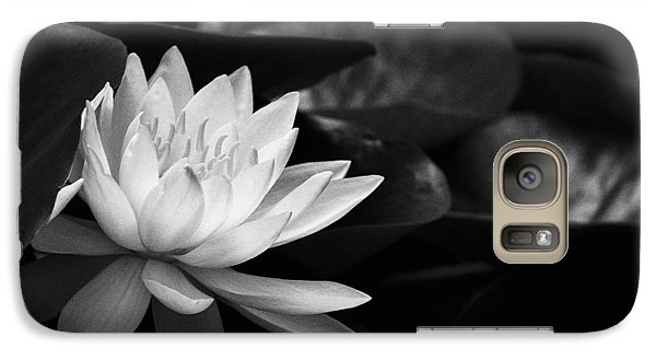 Galaxy Case featuring the photograph Black And White Flower Nine by Kevin Blackburn