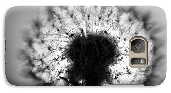 Galaxy Case featuring the photograph Black And White Flower Ten by Kevin Blackburn