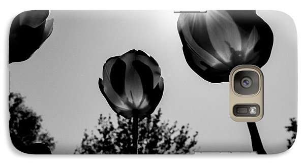 Galaxy Case featuring the photograph Black And White Flower Thirty One by Kevin Blackburn