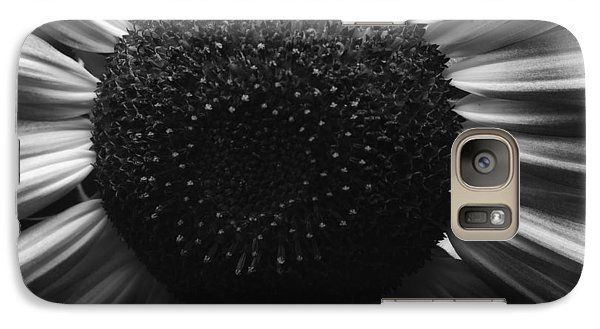 Galaxy Case featuring the photograph Black And White Flower Twelve by Kevin Blackburn