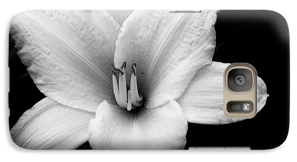 Galaxy Case featuring the photograph Black And White Flower Twenty by Kevin Blackburn