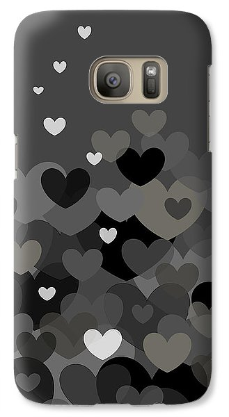Galaxy Case featuring the digital art Black And White Heart Abstract by Val Arie