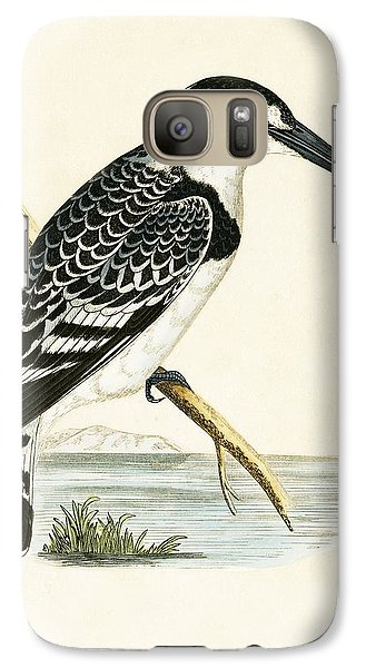 Black And White Kingfisher Galaxy S7 Case