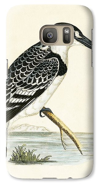 Black And White Kingfisher Galaxy S7 Case by English School