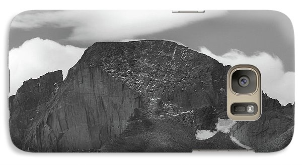 Galaxy Case featuring the photograph Black And White Longs Peak Detail by Dan Sproul