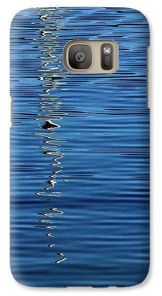 Galaxy Case featuring the photograph Black And White On Blue by Tom Vaughan