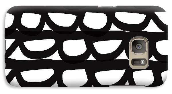 Black And White Pebbles- Art By Linda Woods Galaxy S7 Case by Linda Woods