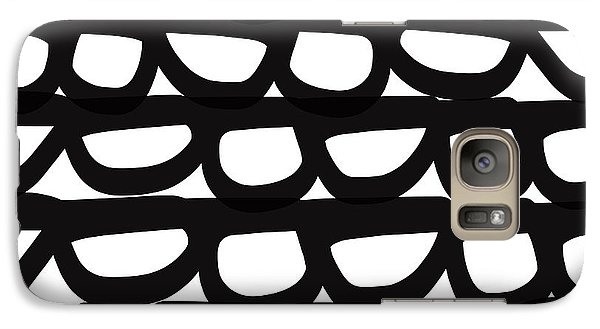 Black And White Pebbles- Art By Linda Woods Galaxy Case by Linda Woods