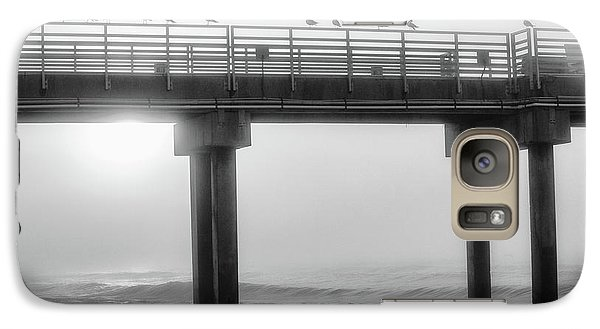 Galaxy Case featuring the photograph Black And White Pier Alabama  by John McGraw