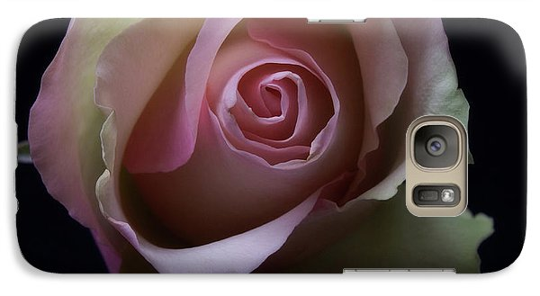 Galaxy Case featuring the photograph Black And White Pink Flowers Roses Macro Photography Art Work by Artecco Fine Art Photography