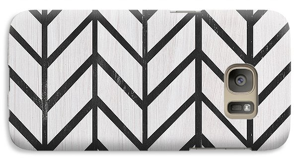 Galaxy Case featuring the painting Black And White Quilt by Debbie DeWitt