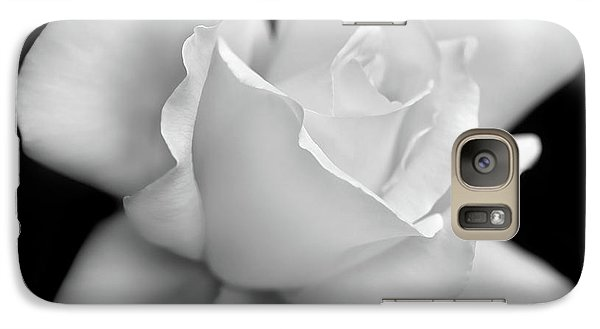 Galaxy Case featuring the photograph Black And White Rose Flower by Jennie Marie Schell